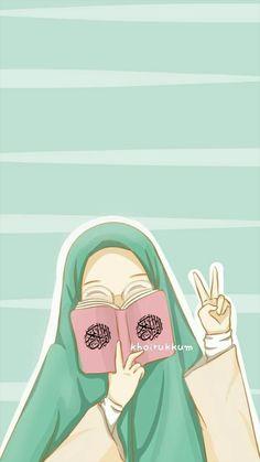 Cartoon Girl Images, Girl Cartoon, Cover Wattpad, Hijab Drawing, Islamic Cartoon, Hijab Cartoon, Islamic Girl, Digital Art Girl, Muslim Girls