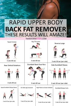 Remove that stubborn back fat easily with this rapid upper body workout. The results will amaze you! upper body workout 🏋🏼 How to Tone My Upper Body Quickly! Rapid Results Back Fat Removal. These Results are Amazing. Fat To Fit, Lose Fat, Lose Belly Fat, How To Lose Weight Fast, Reduce Weight, Sports Challenge, Back Fat, Fat Burning Workout, Yoga Routine