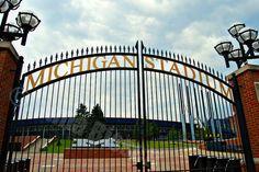 Michigan Stadium Gate University of Michigan Ann Arbor Fine Art Photograph on Metallic Paper. $30.00, via Etsy.