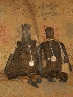 Emme and Issac - Primitive Doll Set