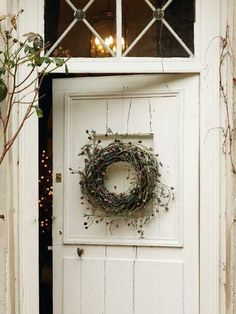 One thing that many people overlook when remodeling their home is their interior doors. Doors do more than offer privacy; they also offer another way to incorporate design elements into your home… White Cottage, Cozy Cottage, Cottage Style, Farmhouse Style, Farmhouse Decor, Cottage Door, Fresh Farmhouse, White Farmhouse, Shabby Cottage
