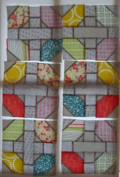 I like this block here- Cabbage Quilts: At the Treehouse and National Year of Reading Quilt