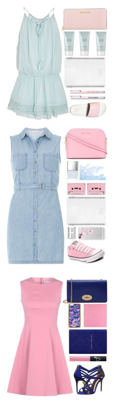 """""""Blue and pink"""" by dianakhuzatyan ❤ liked on Polyvore featuring Elizabeth and James, Vans, Michael Kors, Giorgio Armani, L'ATELIER d'exercices, summertime, blueandpink, summer2016, Converse and Dorothy Perkins"""