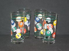 "Each glass measures 6 1/4"" tall.  They are in good slightly used condition with just a few scratches. No nicks, chips or cracks.  $20.00"