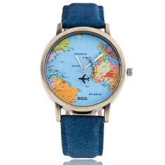 BGG brand New Fashion Women Casual Watches unisex Cartoon airplane Leather Dress wristwatches ladies Quartz Watch clock hours(China (Mainland)) Supernatural Style Casual Watches, Cool Watches, Watches For Men, Women's Watches, Popular Watches, Luxury Words, Map Watch, Women's Dress Watches, By Plane