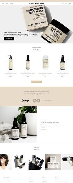 Alder New York | eCommerce Website Design Gallery & Tech Inspiration. #ecommercebranding