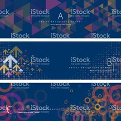 Abstract background banner set royalty-free abstract background banner set stock vector art & more images of backgrounds