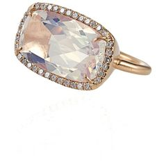 Irene Neuwirth One-Of-A-Kind Water Opal and Diamond Ring.