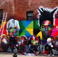 Jean-Michel Basquiat and Andy Warhol by Eduardo Kobra Photos by Jaime ROJO