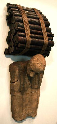 ceramic, wood and twine - william catling