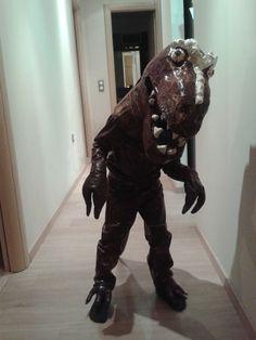 Halloween DIY dino T-rex costume