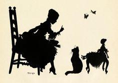 Vintage Ephemera: silhouettes