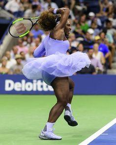 Photo of Serena Williams Took a Typical Tennis Skirt and Smashed It, Rocking a Lavender Tutu at the US Open Serena Williams Photos, Serena Williams Tennis, Venus And Serena Williams, S Williams, Le Tennis, Sport Tennis, Tennis Quotes, Tennis Fashion, Tennis Stars