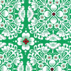 Tissu Pippa Green x10cm