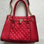 Red Handbag, Lady Dior, Handbags, Fashion, Red Tote Bag, Moda, Totes, Fashion Styles, Purse