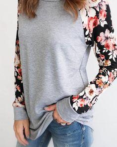 $38 - Callen Floral Baseball Knit