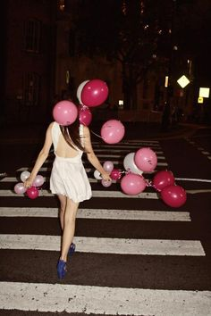 walking on a dream of balloons and drinks