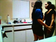 i think this is the cutest thing ever, lesbian couple dancing in the kitchen and then the their kids interrupt... #bachate