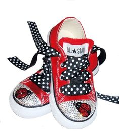 SwAROVSKI BABy BLING LADYBUG LADY BuG COnVERSE by princesspatch
