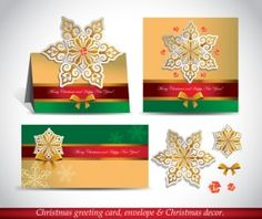 Christmas greeting card envelope with christmas decorative vector 04