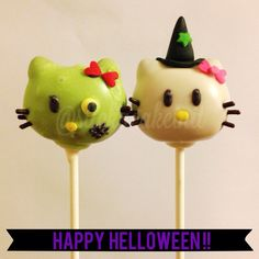 Hello Kitty HELLOween Cake Pops by Stick a Cake In It