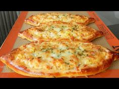 Cheese Garlic Potato Pide - Mozzarella Cheese Bread Delicious! - YouTube Quick Recipes, Pizza Recipes, Appetizer Recipes, Cooking Recipes, Turkish Pide Bread Recipe, Turkish Recipes, Cheese Bread, Savory Snacks, Butter Recipe