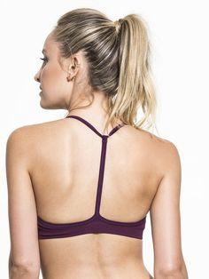 20cd03447a25f Skinny Medium Support Sport Bra in Plum by Nux from Carbon38 Plum