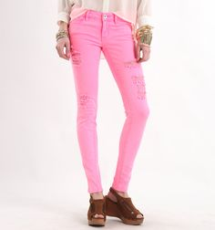 Bullhead Black Colored Skinny Jeans (in yellow, pink, and baby blue!)