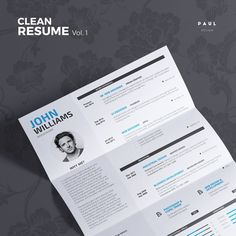 Clean Resume Vol.1  Word and Indesign Template by #TheResumeCreator  #Lebenslauf #Cv #CurriculumVitae #Resume