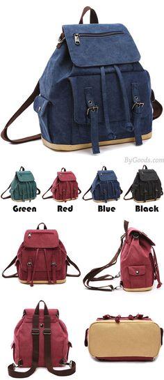 fbdc4f0fb6 Retro Flap Draw String Multifunction Shoulder Bag Handbag Cavnas Backpack  Multi-purpose School Backpack for