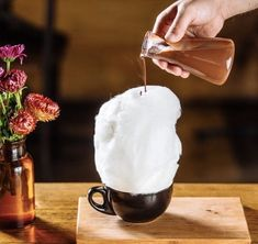 """""""I never knew how much delight I would obtain from pouring hot chocolate over a cloud of fairy floss.""""- @food_porn ⠀⠀⠀⠀⠀⠀⠀⠀⠀  Yepp we totally feel ya.."""