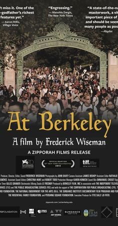 Directed by Frederick Wiseman. The University of California at Berkeley, the oldest and most prestigious member of a ten campus public education system, is also one of the finest research and teaching facilities in the world. The film, At Berkeley, shows the major aspects of university life, its intellectual and social mission, its obligation to the state and to larger ideas of higher education, as well as illustrates how ...
