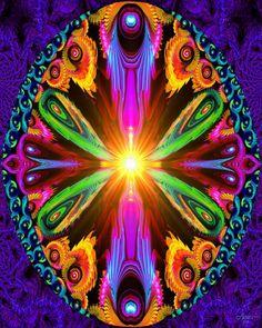 "Rainbow Psychedelic Chakra Art """"Recalibration"