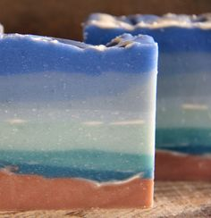 Our Ocean Soap makes a great gift for beach and art lovers everywhere! Description from finicky-filly.com. I searched for this on bing.com/images Shower Accessories, Soap Making, Bath Bombs, Lovers Art, Are You Happy, Projects To Try, Great Gifts, Artisan, Ocean