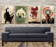 The avengers alliance, the incredible hulk, iron man, captain America, thor, canvas painting, Canvas painting Print size (40 x 60cm)