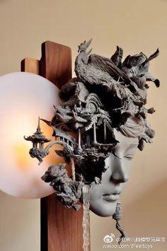 完成品的广寒宫果然很惊艳  来自北京八脚模型玩具店 - 微博 Muse Kunst, Muse Art, Sculpture Clay, Art Model, Surreal Art, Installation Art, Oeuvre D'art, Les Oeuvres, New Art