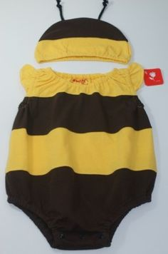 Baby Bumble Bee Onesie Beanie Summer Costume 000 00 0