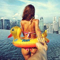 splash. Community Post: Photographer Follows His Girlfriend Wherever She Leads