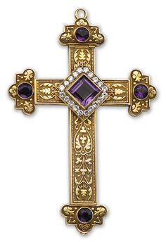 Gold, Amethyst and Diamond Cross,1911.