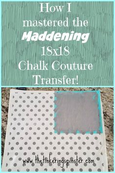 After fighting with my first Chalk Couture Transfer I knew there had to be a better way and I found it! So how do you handle the transfer? Cut it! Chalk It Up, Chalk Art, Chalk Painting, Chalk Crafts, Diy Crafts, Magnolia Design, Chalk Design, Diy Cutting Board, Thing 1