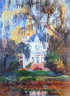 The House at Yerres - Claude Monet. 1876 La Maison d'Yerres Impressionism