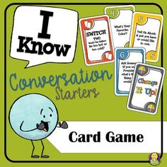 Conversation Starters Card Game is a fun card game that your students will love playing! As students play, they are asked to either ask or answer questions that will help students get to know one another and facilitate conversations.