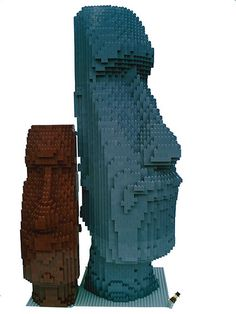 LEGO Moai - minifig | Flickr - Photo Sharing!