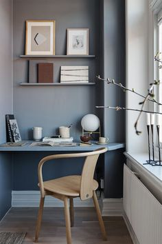 Home Office Space, Home Office Design, Home Office Decor, Office Spaces, Office Ideas, Work Spaces, Scandinavian Style Home, Scandinavian Apartment, Scandinavian Office