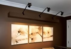 Track lighting doesnt have to be mounted on the ceiling wall best wall mounted track lighting aloadofball Gallery