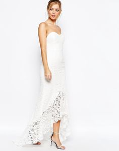 Jarlo+Premium+Sweetheart+All+Over+Lace+Maxi+Dress+With+High+Low+Hem