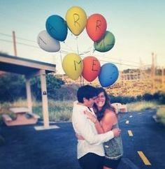 Balloon proposal #balloons #love #engagement