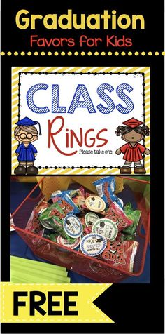 Graduation Class Rings {FREE Printable} FREEBIE Class Ring 2018 Tags – adorable favors for kindergarten or preschool graduation – printable cards for ring pops – pre-k – FREE teacher printables kindergarten graduation graduation Kindergarten Graduation Gift, Graduation Crafts, Pre K Graduation, Graduation Theme, Graduation Celebration, Kindergarten Freebies, Graduation Ideas For Preschool, Kindergarten Registration, Graduation Parties