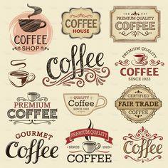 Hand Drawn Vintage Coffee Labels stock vector art 21417012 - iStock #vintagecoffee
