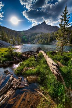 Edith Lake in the Sawtooth Mountains of Idaho by Nate McIntyre